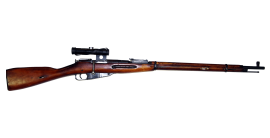 Mosin-Nagant 91/30 Sniper rifle with optic