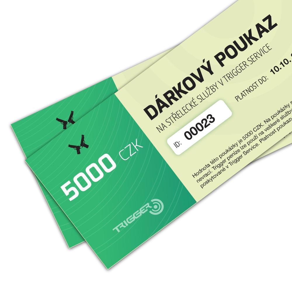 Gutschein für 5000 Kč