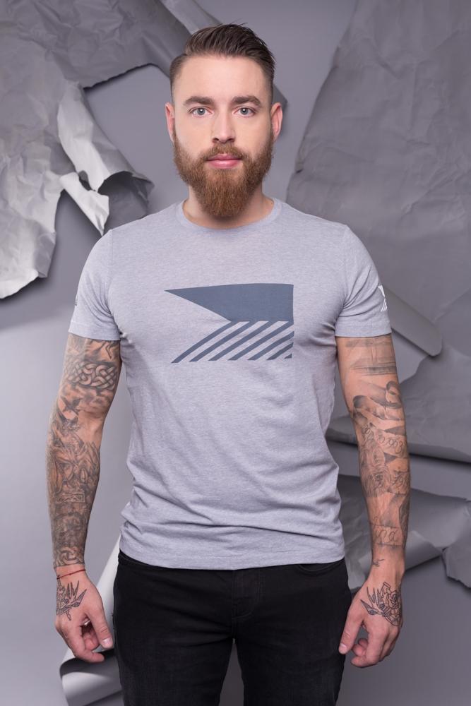 T-Shirt Männer - Melange Grey