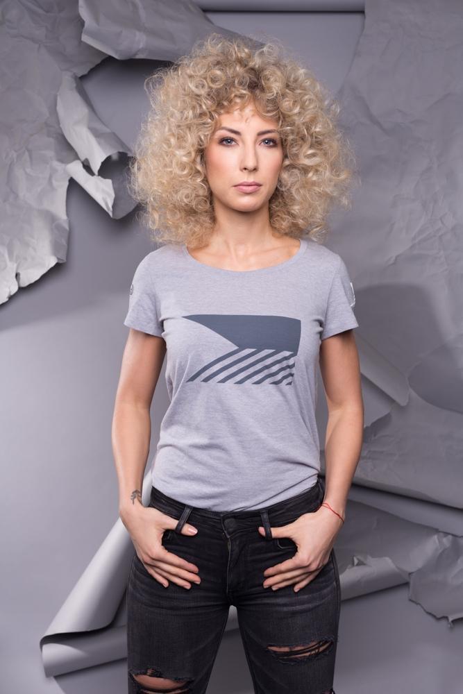 T-shirt womens - Melange Grey