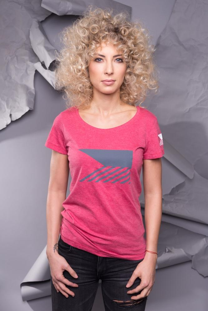 T-shirt womens - Cherry red
