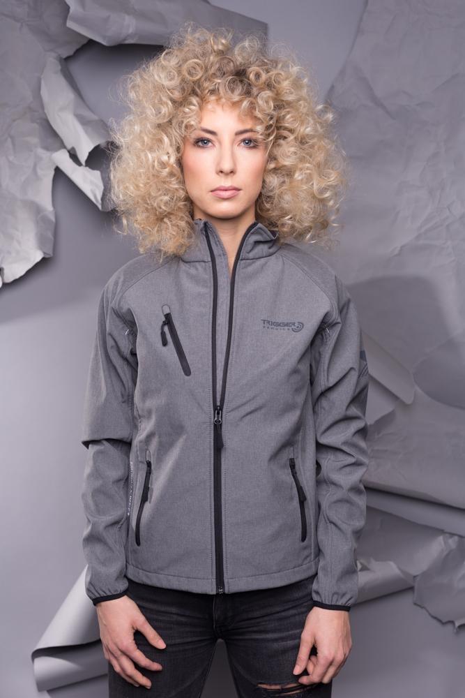 Women Softshell jacket - melange grey