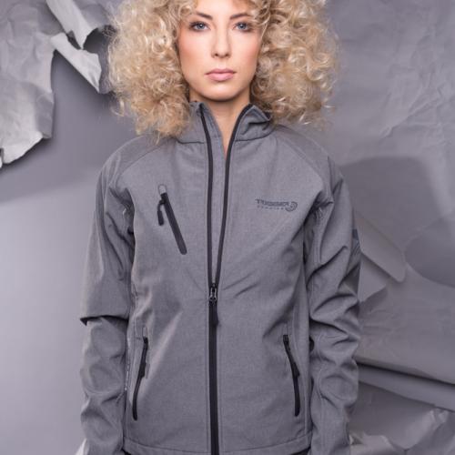 Dámská Softshell bunda - světle šedá