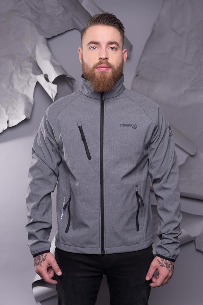 Mens Sofshell jacket - melange grey
